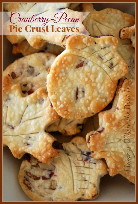 Cranberry Pecan #Pie Crust Leaves recipe- 3 ingredients!