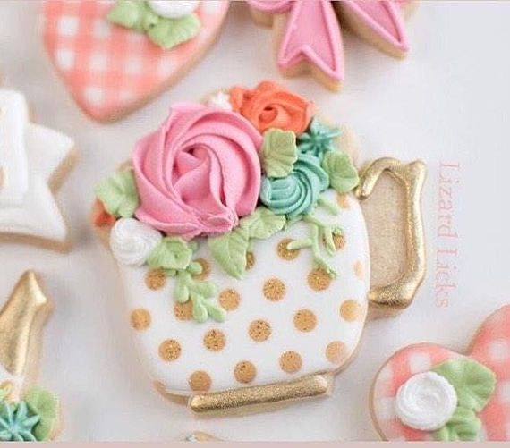 Cup of Flowers Cookie Cutter