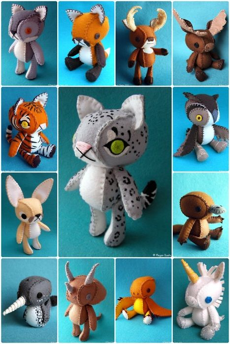 So cute! I haven't ventured beyond mostly-flat felt dolls, but these make me want to try making 3-D ones!
