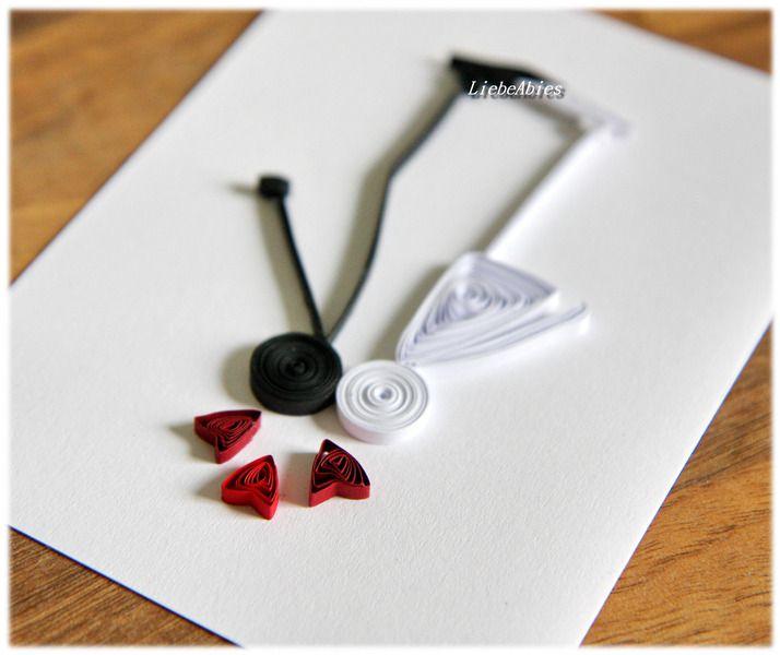 Quilling Glückwunsch Grußkarte Hochzeit Liebe Kiss von Liebeabies auf DaWanda.com