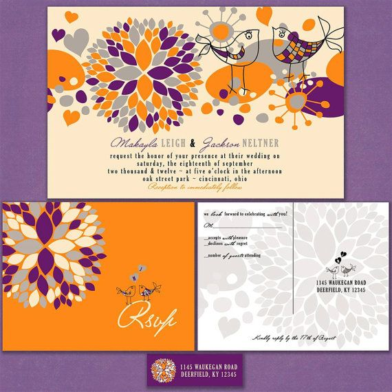 Garden Birdies Custom Wedding Invitation Suite by InvitingMoments, $1.60
