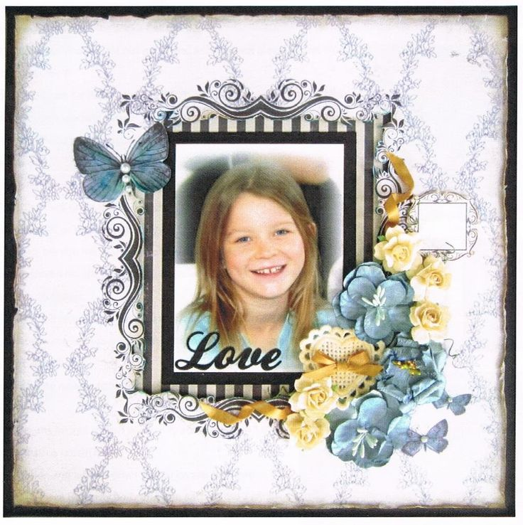 LOVE - $25. Using Manor House Creations.  This scrapbook page requires Distress Stain to colour some of the embellishments but you could improvise. Contact Deborah at  kitsandbits1@gmail.com