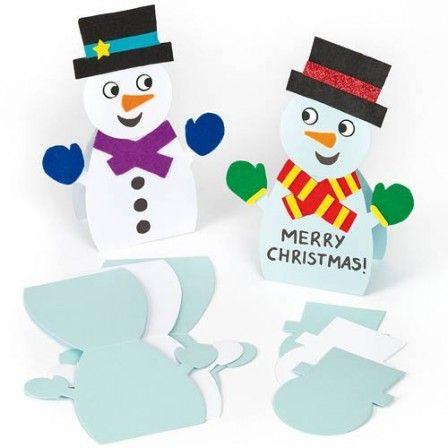 decoration de noel avec les enfants carte de noel bonhomme de neige a decorer menu noel original