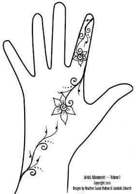 Small Henna Tattoo Designs | Simple Henna Design Henna Tattoo Indian Arabic Design Pictures Pics ...