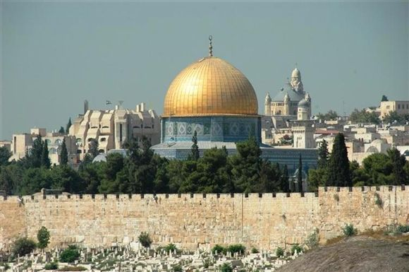 Dome of the Rock  This stunning domed shrine resides on Temple Mount in Jerusalem.
