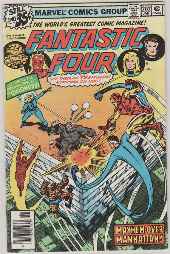 Fantastic Four V1 202.  VF. Jan 1979.  Marvel by RubbersuitStudios, $14.00 #fantasticfour #comicbooks