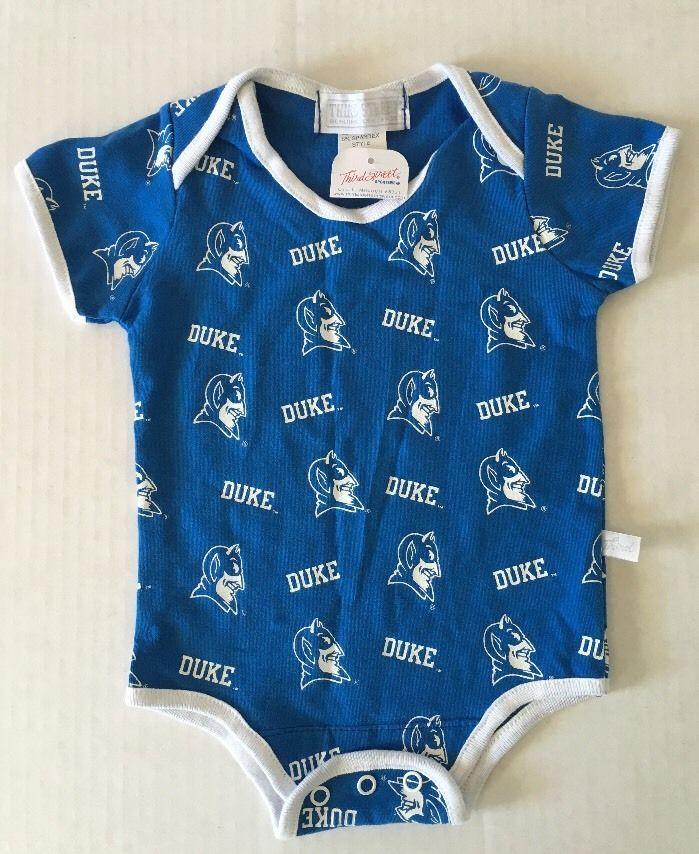 NEW Baby Boys Gilrs Duke Blue Devils One Piece Bodysuit Size 6/9M 6/9 Mo Shirt #ProfessionalSportsClub #Everyday