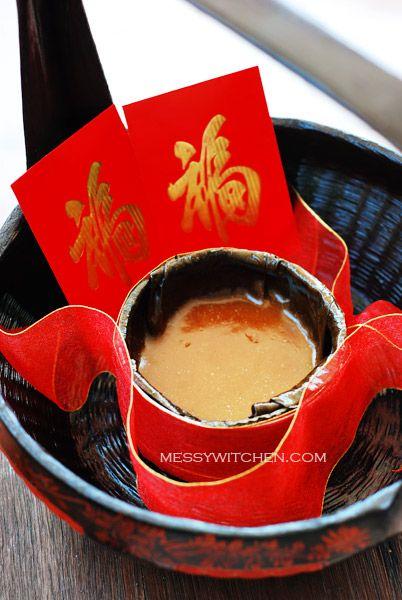 Messy Kitchen : Chinese New Year Ti Kuih (Nian Gao-Sweet Sticky Rice Cake-Kuih Bakul)