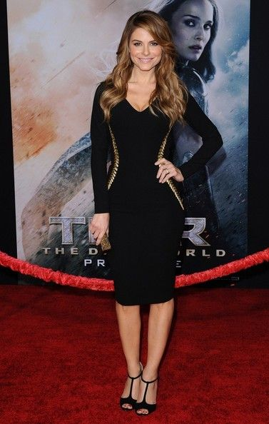 Maria Menounos wears a Kayat dress to the 'Thor: The Dark World' premiere.