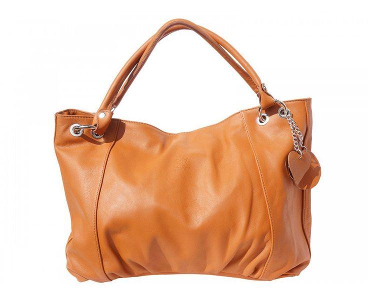 Velká luxusní kožená kabelka přes rameno nebo do ruky od italské značky Florence model HOBO. S touto kabelkou opravdu vyniknete! Je dostupná v barvách: Hnědá Béžová Černá Vínová Modrá Rezavá Oranžová