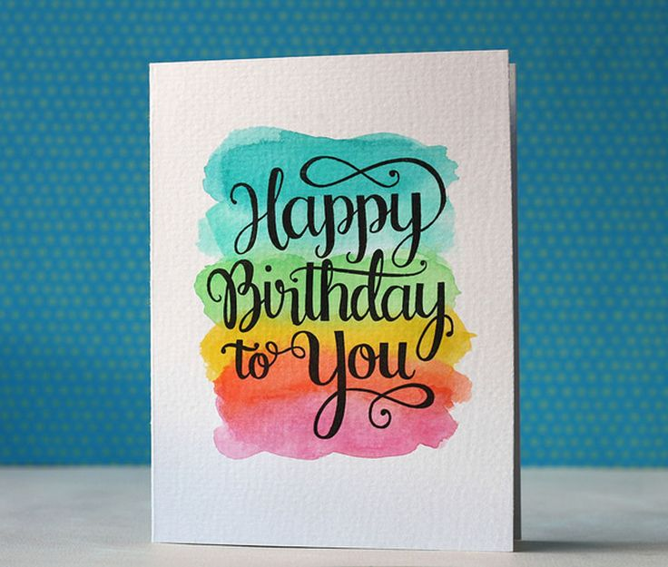 Happy Birthday Card via Happy Hands Project