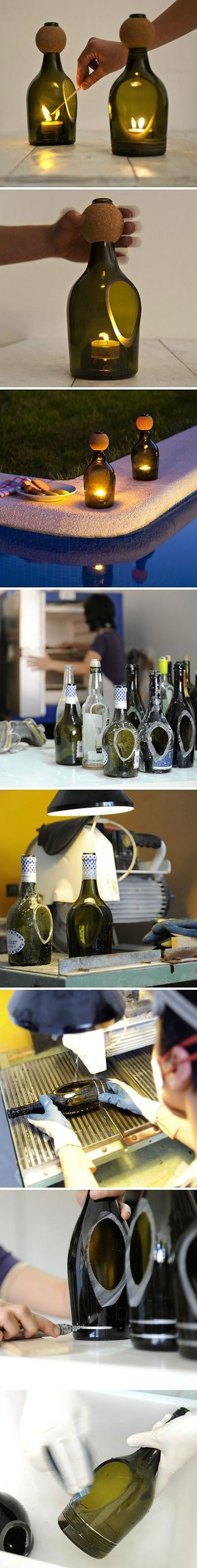 DIY Wine Bottles Craft
