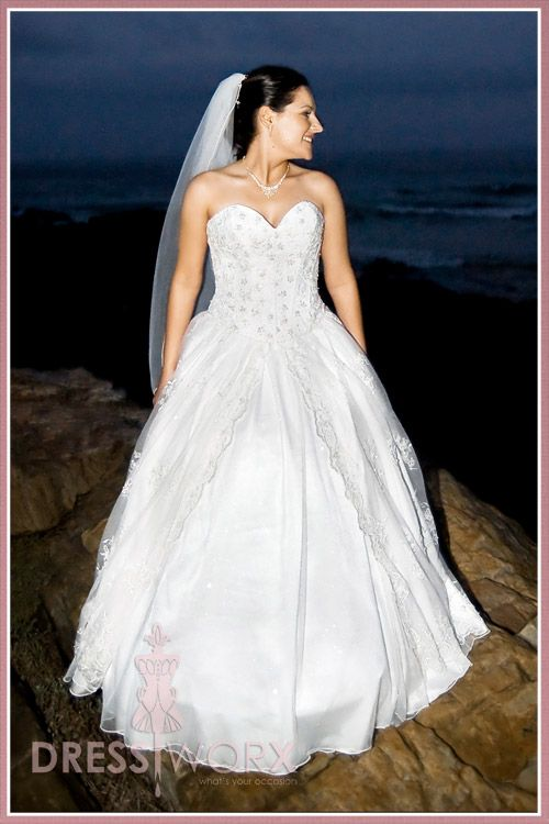 Wedding Dress for Christal Reid - Designed and sewn by Verne Smit