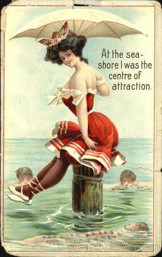 """Красный купальник, безусловно, во все времена выделял его обладательницу на пляже. Клуб исторического танца """"Старый город"""", Саратов"""