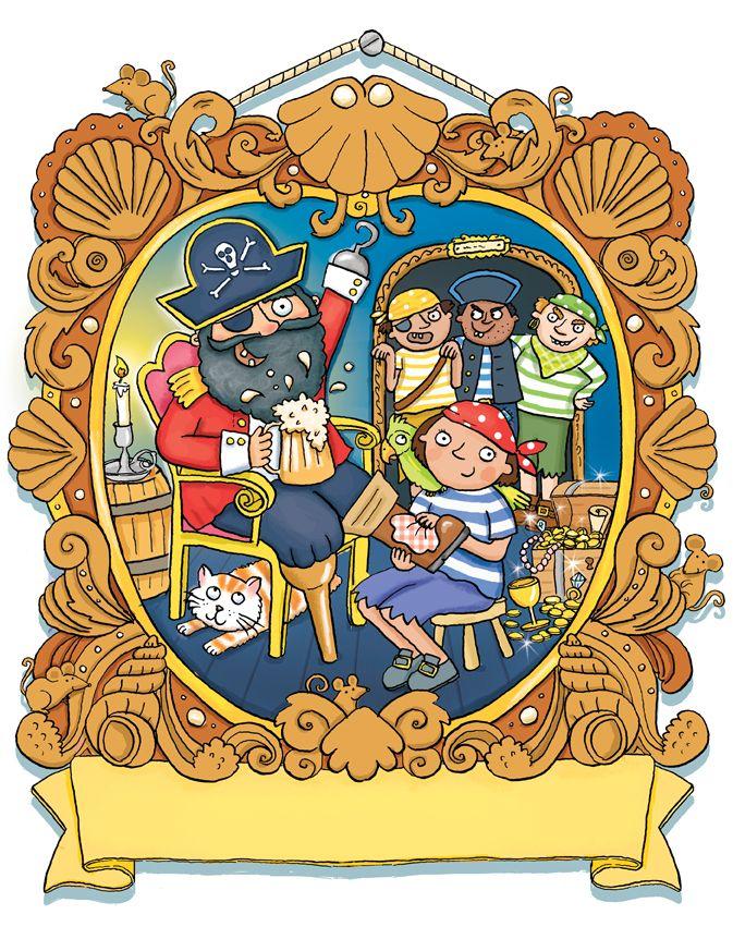 pirates, kate daubney, kids illustration