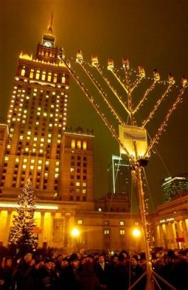 Hanukkah in Warsaw, Poland