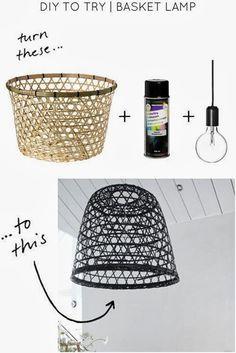 L mparas hechas con cestas para tu casa en 2019 ideas d co jardin diy luminaire y astuce Lamparas de techo hechas en casa