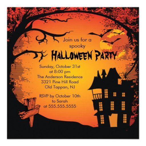 本格的なハロウィンパーティには、本格的なハロウィンデザインの招待状を。#zazzle #ハロウィン