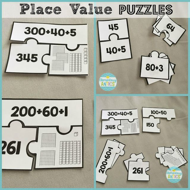 Place value puzzles: Elementary Antics