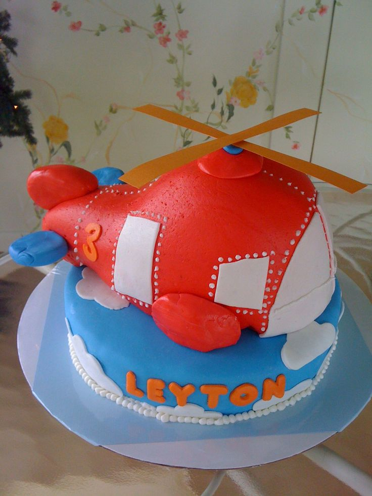 Helicopter Cake. Bridgers dream cake!!
