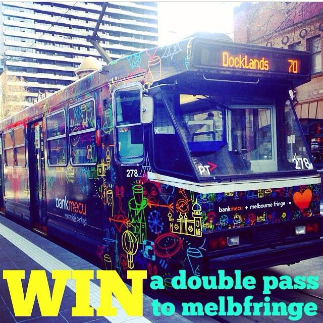 """@ayshagainstthemachine's photo: """"Win a double pass to #mfringe. Use the tram tracker app to find Tram ID 278, snap a pic and share. Don't forget to tag @bankmecu @melbfringe #GramTheTram"""""""