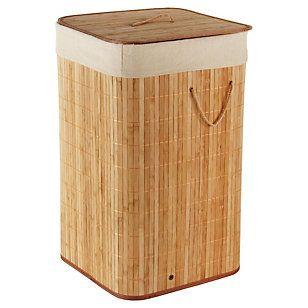 Cesto Ropa Bamboo Beige 34x57 cm-Sodimac.com