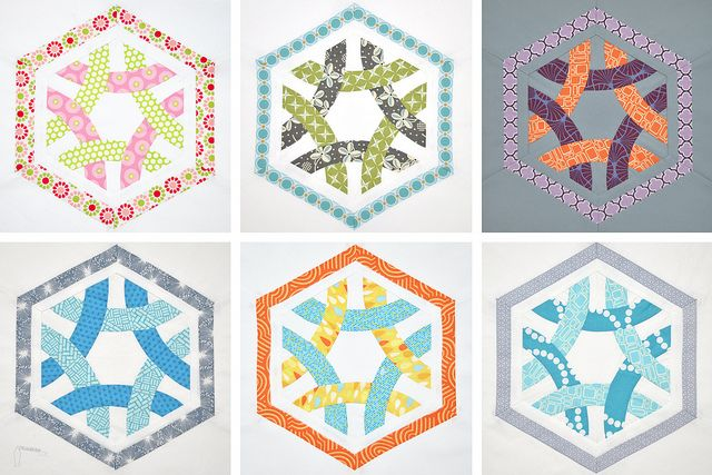 Hexagon Ring: Hexagons Rings, Hexagons Crazy, Hexagons Blocks, Quilts Blocks, Hexagons Quilts, Curves Piece, Bees Blocks, Rings Quilts, Blocks Hexagons