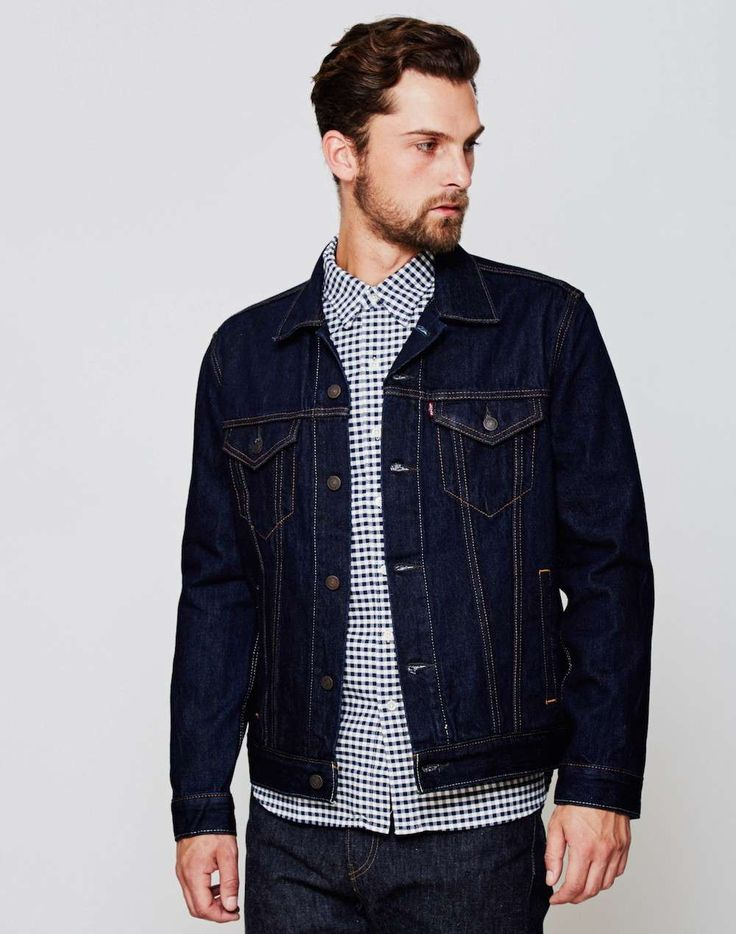 Levi Denim Jacket men the idle man http://www.99wtf.net/men/mens-fasion/ideas-choosing-mens-outfit-colors-mens-fashion-2016/