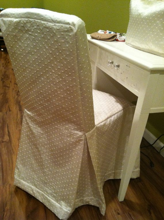 Dining Chair Cover Cottage Look In Off White By KayandL On Etsy 3995
