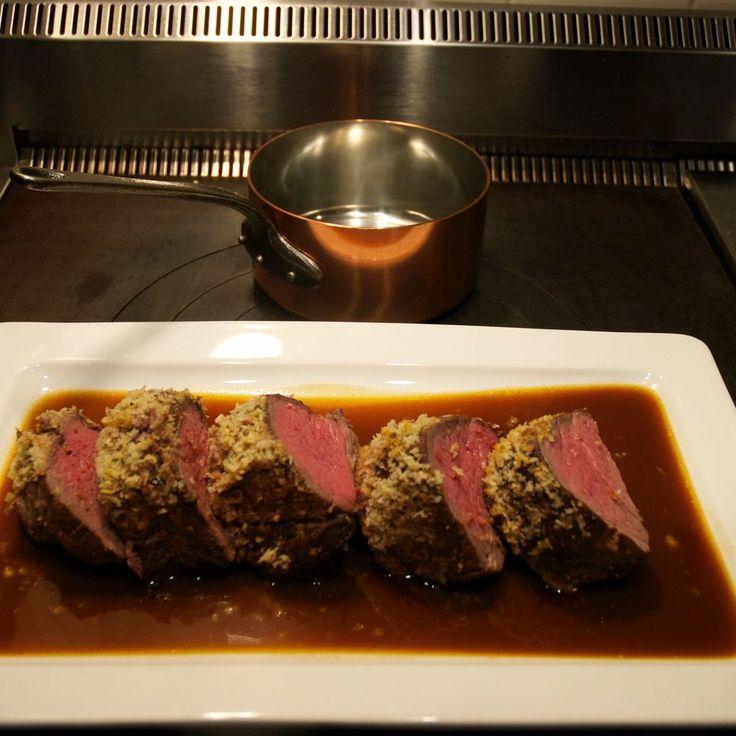 Mustard-Crusted Beef Tenderloin with Sauce Robert Recipe on Food52 recipe on Food52
