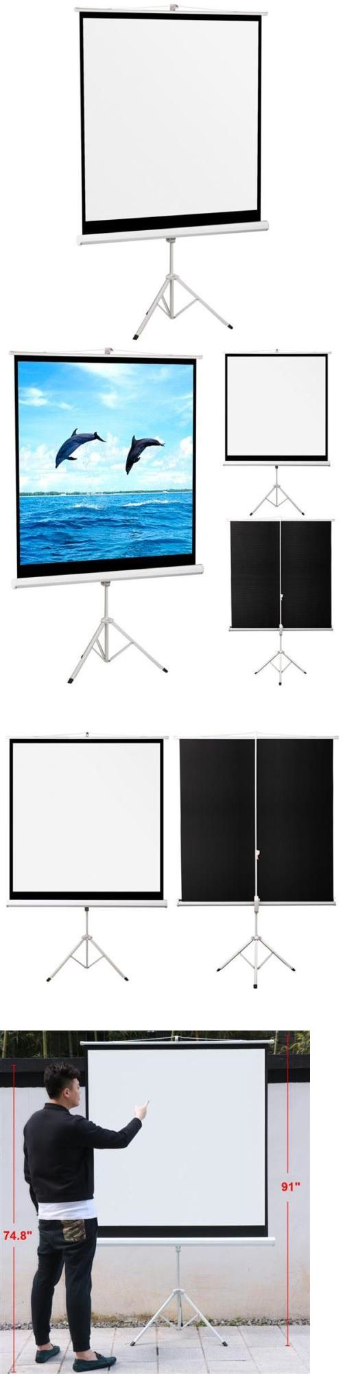 Projection Screens and Material: 70 Portable Projector Screen 125X125cm Projection Pull Up Foldable Stand Tripod -> BUY IT NOW ONLY: $34 on eBay!