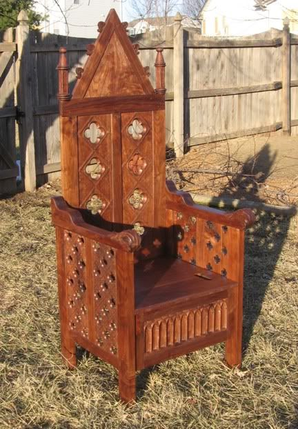 74 best sca chairs thrones images on pinterest antique for Throne chair plans