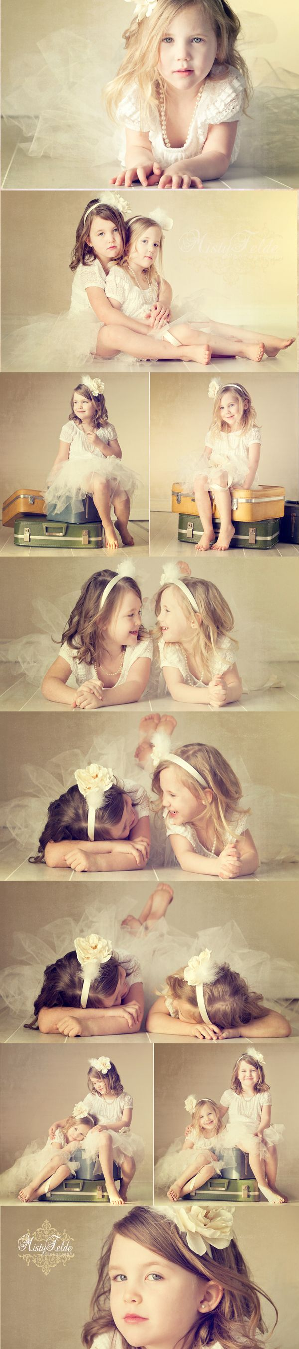 I love this sweet sister vintage session. Family, sibling photography  ImagesByMistyPhotography.com When my girls get older