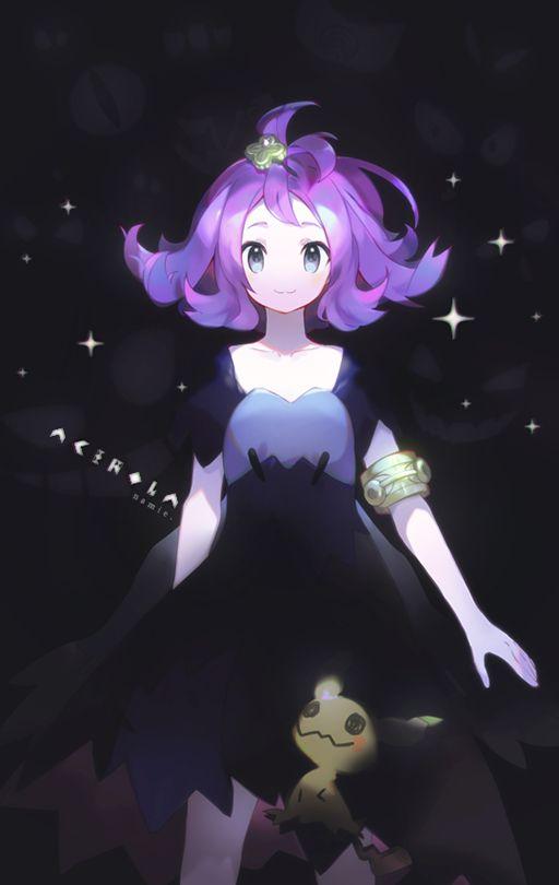 Acerola with Mimikyu by Namie-kun