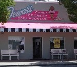 Dewar's Candy Shop Downtown Bakersfield, CA - Handmade candy & ice cream (Grandpa always took me here, but it was painted mint green back then) If they have it...butter brickle milkshake is amazingly yummy, peanut butter chews to die for