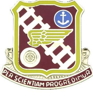Transportation School Unit Crest (Per Scientiam Progredimur)
