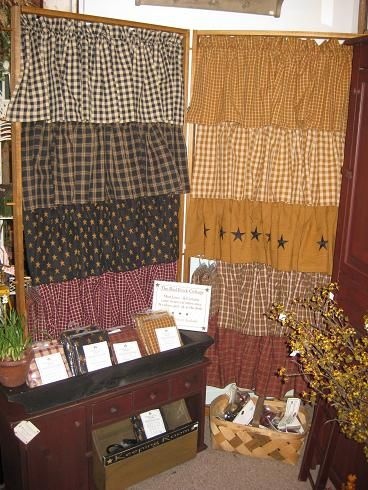 We Offer A Great Selection Of Country Primitive Curtains On Our Website Theredbrickcottage
