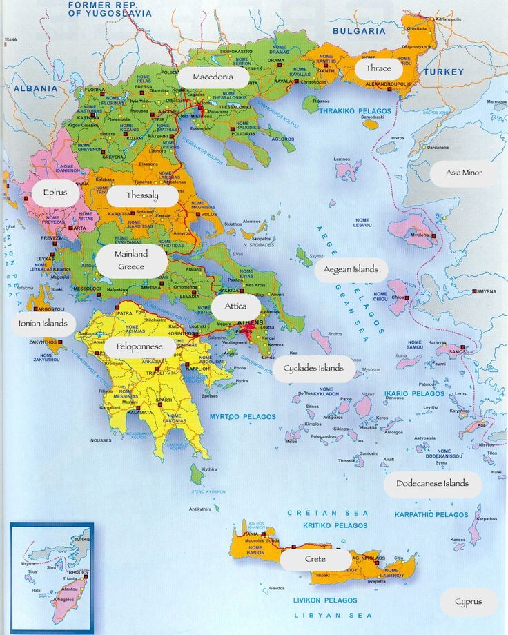 Map of modern Greece showing Macedonia, the historical region of Greece - From ancient Greek kingdom to modern province via HDNJ - Costumes