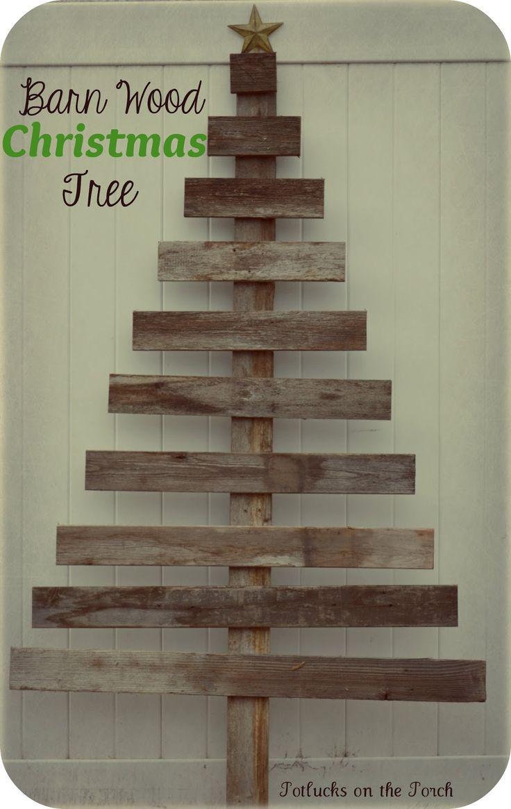 Potlucks On The Porch Barn Wood Christmas Tree I Love