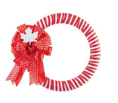 Canada Day Ribbon Wrapped Wreath