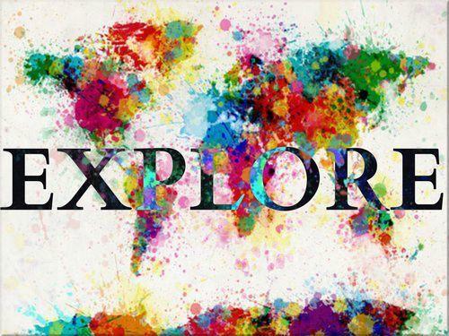 Explore: Ideas, Explore, Inspiration, Colors, Art, World Maps, Travel, Things
