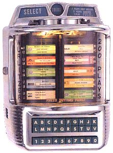 Tabletop Juke Box - I remember what a big deal it was to push the buttons..I still have one