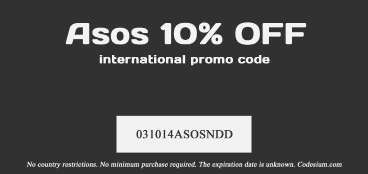 Probably the last code before Black Friday. Enter this coupon code and receive 10% off. http://codesium.com/asos-discount-code/