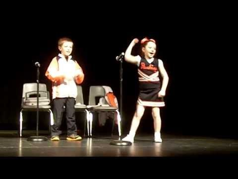 Saturday Night Live Cheerleader Skit-- Seymour Elementary school talent show April 2013    So proud of my kids  :)  Best talent show idea for kids!