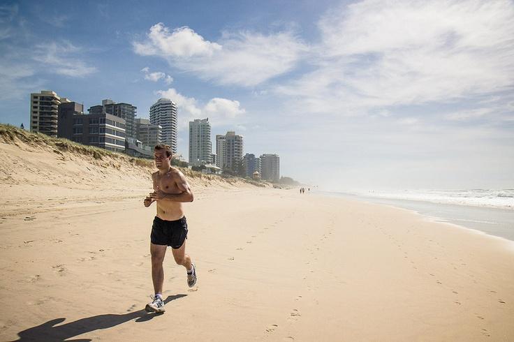 Morning jog along the Gold Coast