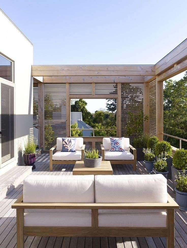 Arredare un terrazzo scoperto - Terrazzo dal design contemporaneo