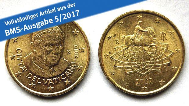 Der Vertrag von Maastricht (1992) eröffnete dem Vatikanstaat die Möglichkeit, Euromünzen aus Gold und Silber sowie aus unedlen Metallen zu prägen. Das garantierte dem nur 0,44 Quadratkilometer großen Kirchenstaat mitten in Rom weiterhin eine wichtige Geldquelle. Vor Ort wird man…