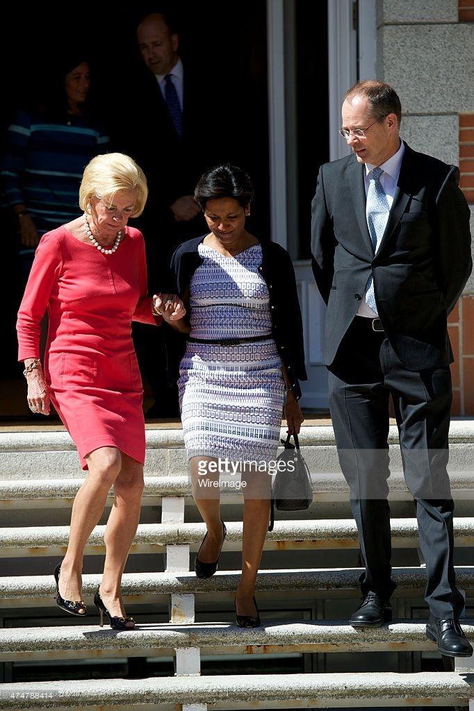 King Felipe VI of Spain receives Liz Mohn , president of the Bertelsmann Foundation at Zarzuela Palace on May 26, 2015 in Madrid, Spain.