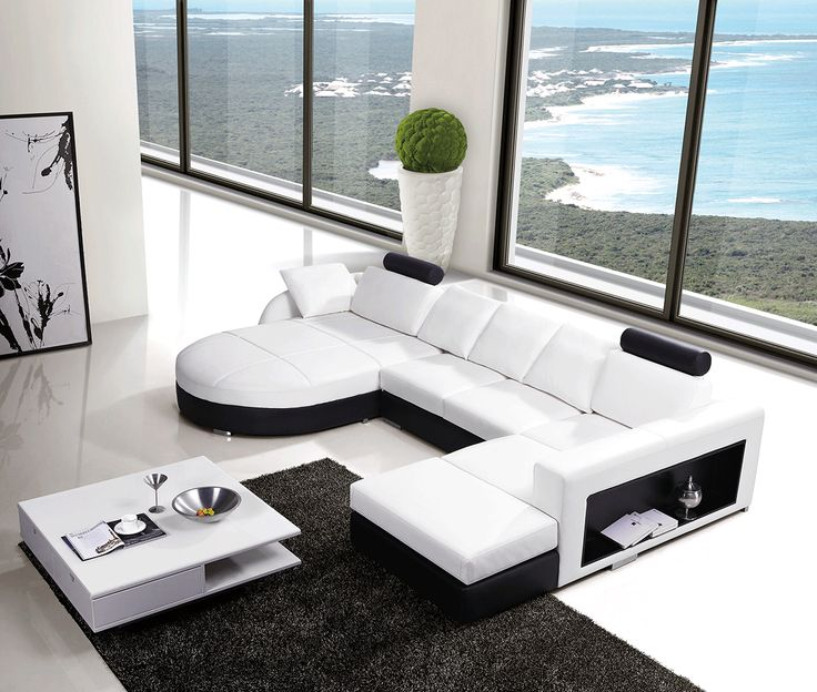 spectacular modern white leather sofa. This modern leather sofa is a great  addition to your home It 83 best Sofas Sectionals images on Pinterest Cloths Fabrics and
