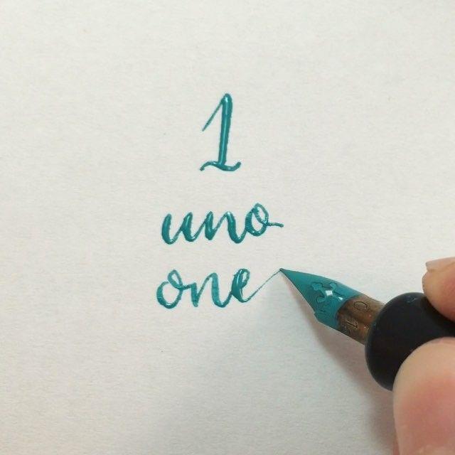 ☝️ #readbetweentheletters #readbetweentheletters_1 #calligraphy #caligrafia #1 #uno #one #speedball #pluma #ink #speedballink #numbers #numeros #numberscalligraphy #caligrafianumeros